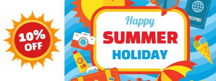 zomer vakantie banner